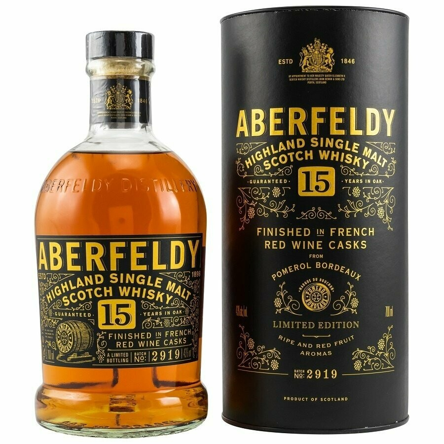 Aberfeldy 15Y Pomerol Cask 70cl