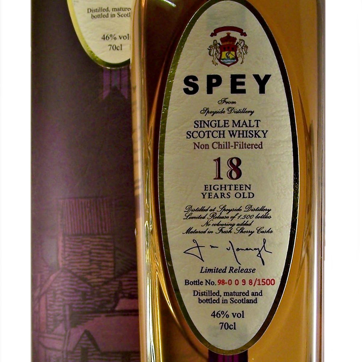 Speyside Spey 18Y 70cl