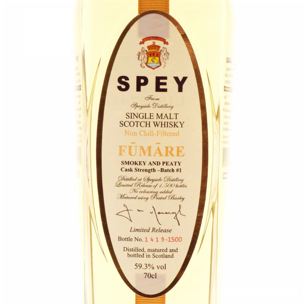 Speyside Spey Fumare Cask Strenght 70cl
